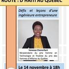 Conférence : défis et leçons d'une ingénieure entrepreneure